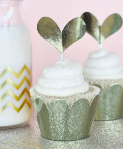Wrappers til cupcakes metallic