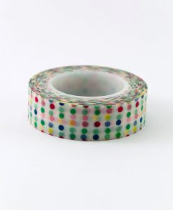 Washi tape multifarvet prikker