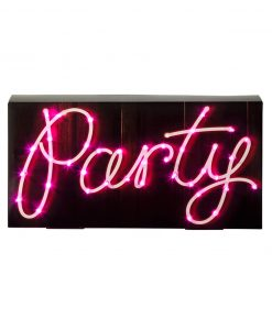 party skilt med pink LED-lys