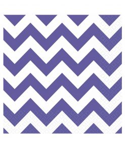 lilla chevron stribede servietter