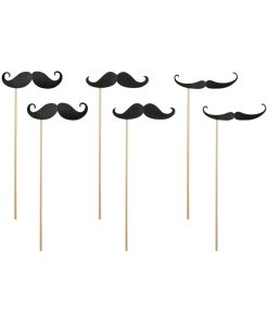Moustache sticks i 3 designs