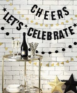 "Sort ""Cheers"" guirlande - DIY"