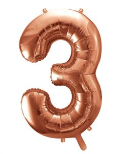 Store rose gold folie ballon tal - 86 cm. - 3