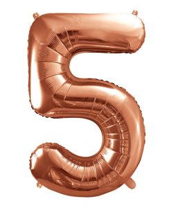 Store rose gold folie ballon tal