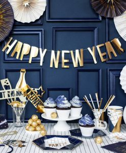 Guld Happy New Year banner