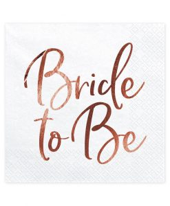 """Bride to be"" servietter med rose gold tryk"