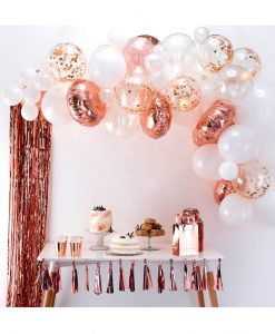 Rose gold ballon bue