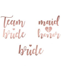 Team Bride temporary tattoos - Rose gold