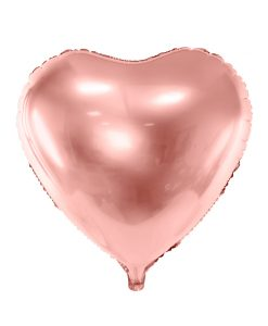 Rose gold folie hjerte ballon