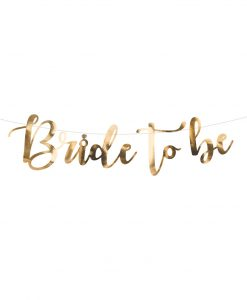 Bride to be guirlande - guld