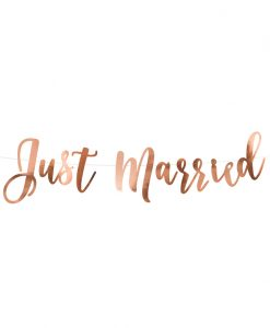 Rose gold Just Married guirlande