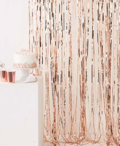 Rose gold glitter gardin