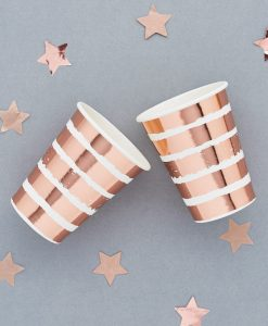 rose gold stribede krus