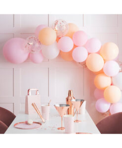 Ballonguirlande - Blush pink, fersken og rose gold