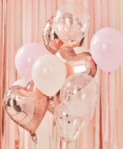 Rose gold og blush pink ballon buket
