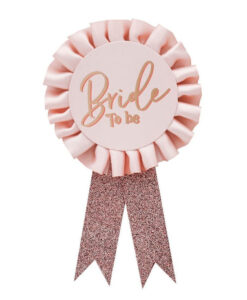 Bride to Be badge til polterabend